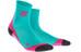 cep Short  - Chaussettes course à pied Femme - rose/turquoise